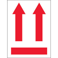 3 X 4 Two Up Arrows Labels Redwhite 500roll