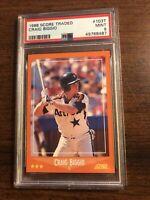 1988 Score Traded Craig Biggio Rookie #103T PSA 9 Mint Houston Astros HOF