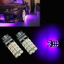 2Pcs PURPLE 3157 Dual 30 5050 SMD LED Brake Tail Signal Light Bulb 3457 3057P3