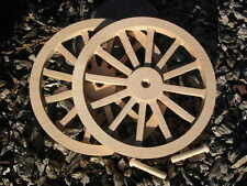 WAGON & CANNON WHEELS - 8 Inch Diameter Alder - Toy Wood Cart Circus Scale Model