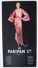Original Early 20th century Paripan Glamour showcard, calendar. Art Deco. (c)