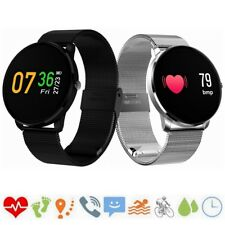 Waterproof IP67 Smart Watch Heart Rate Monitor Stainless Steel Sports Bracelet