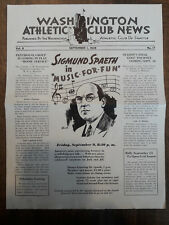 1938 WASHINGTON ATHLETIC CLUB SIGMUND SPAETH JANE DOUST JANET GRIFFIN 00102