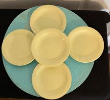Set of 5 Vintage Boontonware Belle Butter Yellow Bowl Melamine Melmac Saucers