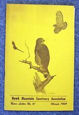 1969 HAWK MOUNTAIN SANCTUARY ASSOCIATION Newsletter PENNSYLVANIA Ornithology