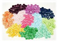 100 x 9,11,12,15,18,21,23mm Buttons Mixed 19 Colours Small Sewing Arts Crafts
