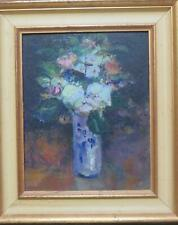 James Carlisle Modern British Oil Flowers Still Life