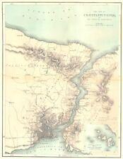 TURKEY. Istanbul & Thracian Bosphorus c1885 old antique vintage map plan chart
