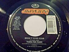 Tears For Fears Break It Down Again / Bloodletting Go 45 1993 Vinyl Record