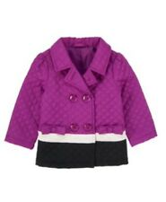 Gymboree NWT Purrfectly Fabulous Girls Quilted Colorblock Jacket Coat 6 - 12 M