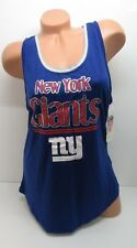 Junior's New York Giants Racerback Tank Top Blue Size X-Large (15/17)