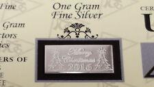 x5 Merry Christmas 2016 ACB 1 Gram Bar 999 Fine SILVER w/ Certificate Gift..