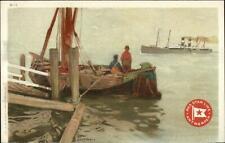 Red Star Line Steamship CASSIERS H-1 Menu Top c1910 Postcard