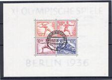 Troisième Reich OLYMPIADE 1958 BLOC 6 TIMBRE À DATE timbré (R5651