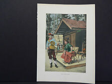 Vintage Camping Prints, Hand Colored c.1910 #04
