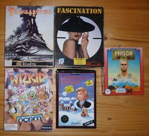 Lot 5 jeux ATARI ST : Mortville Manor, Transarctica, Fascination, Wizkid, Prison