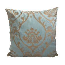 "Linen Beige Green Lotus 18x18"" Home Decorative/Throw Pillow Case / Cushion Cover"
