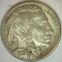 1920 S Buffalo Indian Head Nickel 5 cent US United States 5c Nickel AU K30