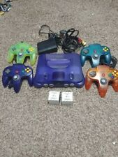 Grape Purple Nintendo 64 console bundle with 4 Rare controllers PLEASE READ