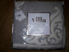 Villa Patrina Home Collection Cotton King Embroidered Duvet Cover in Grey/Ivory