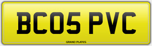 WINDOWS DOOR FRAME FITTERS REGISTRATION BC05 PVC NUMBER PLATE DOUBLE GLAZING UK