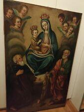 Quadro dipinto antico olio su tela del 700 reintelato misure 136x86 cm