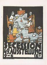 Egon Schiele Secession 49 Ausstelung 1918 postcard art nouveau