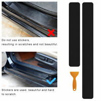 4x 5D Car Scuff Plate Door Sill Sticker Panel Protector Accessories Carbon Fiber