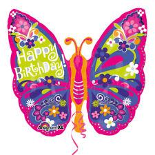 Joyeux Anniversaire Jolie Papillon Ballon Aluminium Forme
