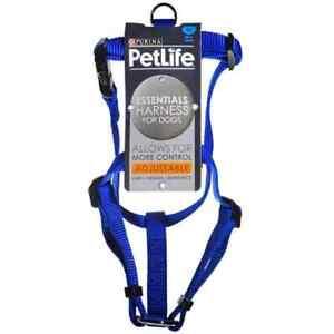 Petlife Nylon Adjustable Harness Blue
