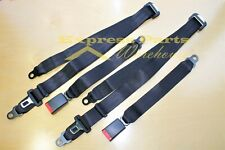 2 x Universal 3 Point Seat Belts Go Kart Dune Buggy Golf Cart Manco Yerf Dog.
