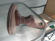 One Turned American Walnut Spoon Carved Candle Lamp Holder Bracket 1880