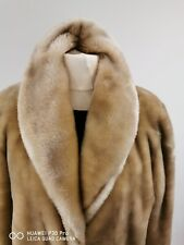 Faux fur full length sumptuous Honey Blonde  COAT UK 12 Beauty without cruelty
