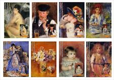 2017 AUGUSTE RENOIR 20 SOUVENIR SHEETS MNH UNPERFORATED ART PAINTINGS