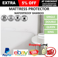 DELUXE Bamboo Mattress Bed Matress Protector WATERPROOF Single King Queen Double