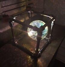Handmade Cube Steampunk Industrial Metal Retro Chrome Pipe Table Firework Lamp