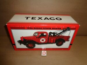 TEXACO 1946 DODGE POWER WAGON TOW TRUCK WRECKER REGULAR EDITION #23 in Series D