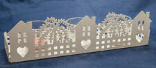 White Valentine T Candle Holder Village Decor Collectible Party Metal Sweetheart