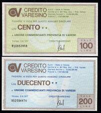 CREDITO VARESINO 3/8/1977 UNIONE COMMERCIANTI PROV.VARESE /PAPER MONEY FDS/UNC