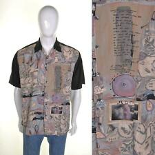 NICO Vintage 90s Bowling Shirt L Jazzy Funky Print Pattern Rockabilly