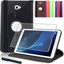 9H Panzerglas Folie+ 360°Tasche Samsung Galaxy Tab A 10.1 T580 A6 Schutzhülle
