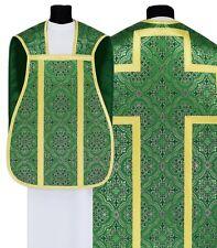 Green Roman chasuble with stole R-Z14 Casulla Romana Verde Casula Grün Kasel