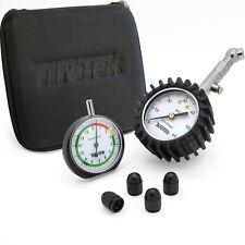 TireTek Premium Tyre Pressure Gauge, Tread Depth Gauge & Valve Caps Gift Set
