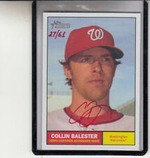 "2010 TOPPS HERITAGE COLIN BALESTER RED INK ""WASHINGTON NATIONALS"" AUTOGRAPH AUTO"