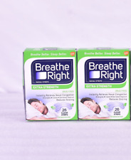 LOT OF 2 Breathe Right Extra Strength Clear Nasal Strips 26 Count
