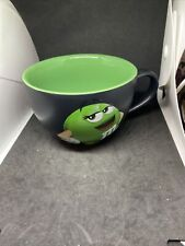M & M's MUG OFFICIAL Green LARGE  CAPPUCCINO COFFEE CUP MUG M AND M WORLD