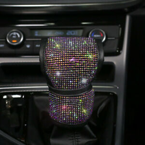 Universal Sparkle Bling Rhinestone Diamond Car Gear Cover Vehicle Accessories