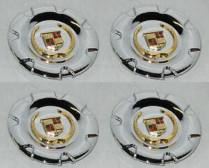 "4 CAP DEAL MC2 CADILLAC SRX 18"" WHEEL RIM CENTER CAP 4581 4594 MC2-C4581GWC GOLD"
