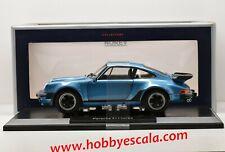 PORSCHE 911 TURBO 3.3 1977 BLUE METALLIC NOREV 1/18 EN BOITE FINITION AJOUTÉE