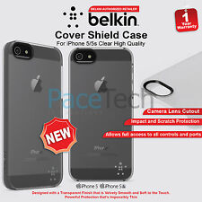 Genuine Belkin Shield Sheer Translucent Case Polycarbonate for iPhone 5 5S NEW